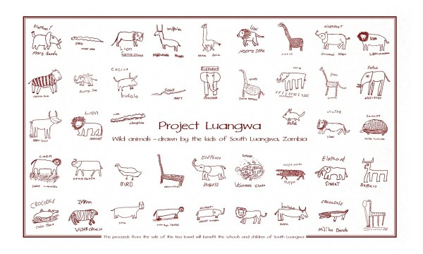 Project Luangwa Wildlife Tea Towels now available outside of