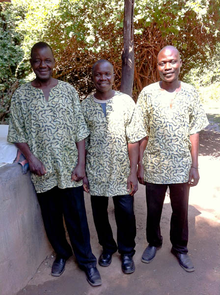 Housekeeping Team at Kaingo: Jimmy, Laban and Duncan
