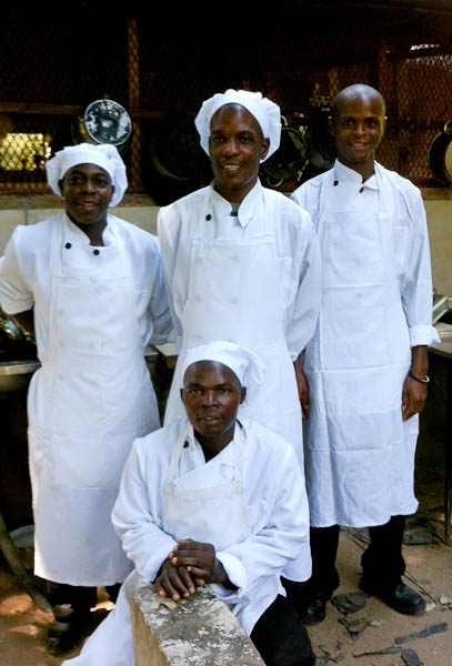 Kitchen Chefs: Rabison, Andrew, Zaks and Andrew Jr (Medi is missing on the picture)