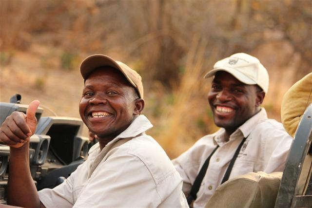Raban (Spotter and Housekeeper at Kaingo) and Sylvester, Safari Guide
